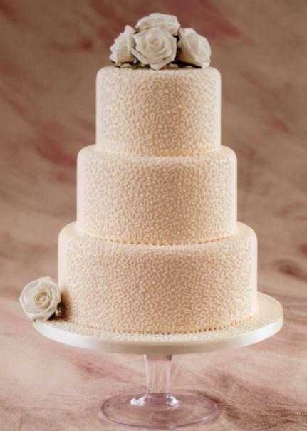 Pin Three Tier Lace Panel Lily Wedding Cake Cake On Pinterest